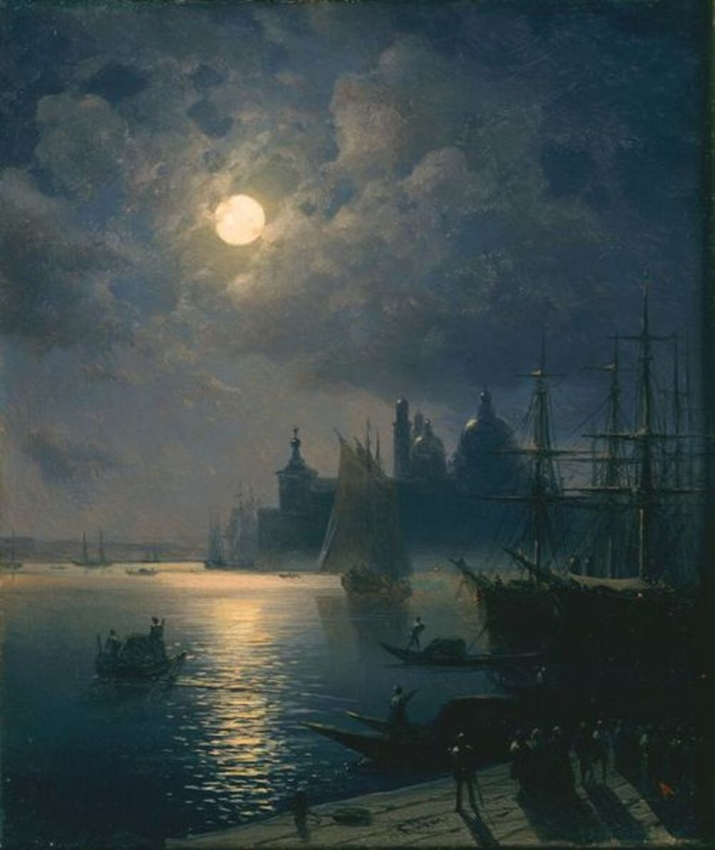 Venice at Night by Ivan Konstantinovich Aivazovsky