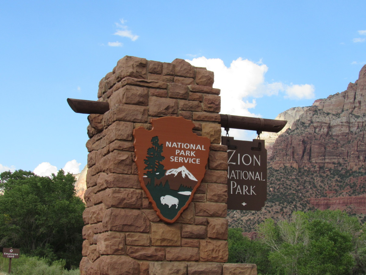 South entrance, Zion National Park, Utah