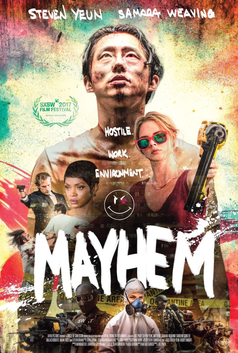 'Mayhem' Movie Review Starring Steven Yuen + Samara Weaving