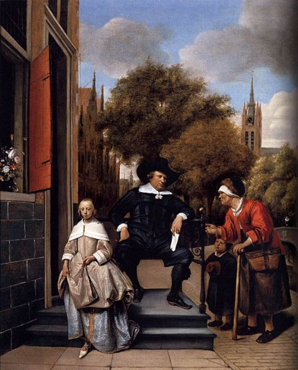 Double portrait of Adolf Croeser and his daughter Catharina. This is only a painting, but can represent the elite and how looks and pressure can affect them.
