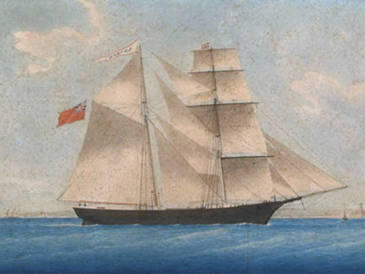 Painting of the Mary Celeste, circa 1861