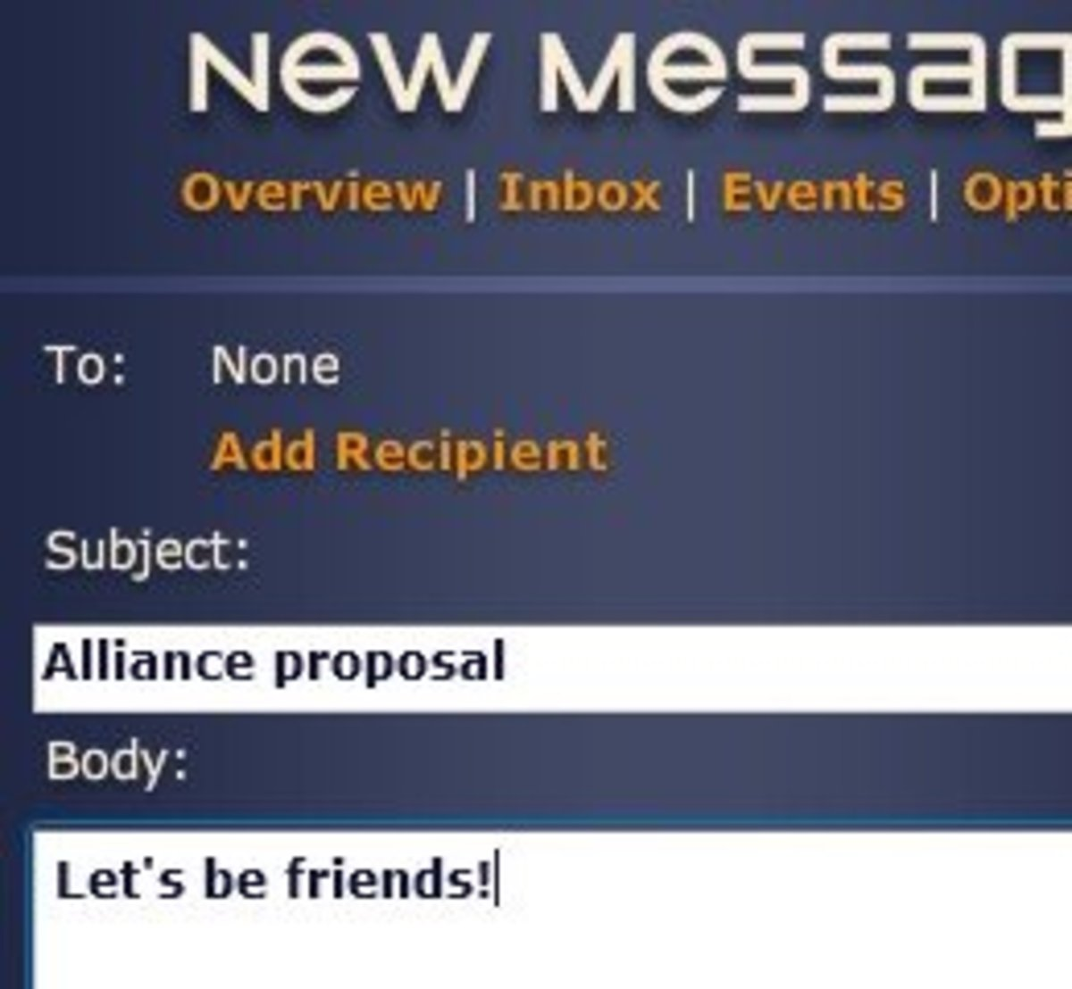You can send messages to any player in Neptune's Pride.