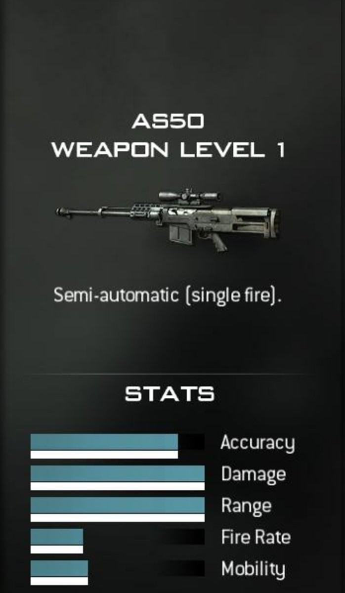 The AS50 MW3 Sniper rifle.