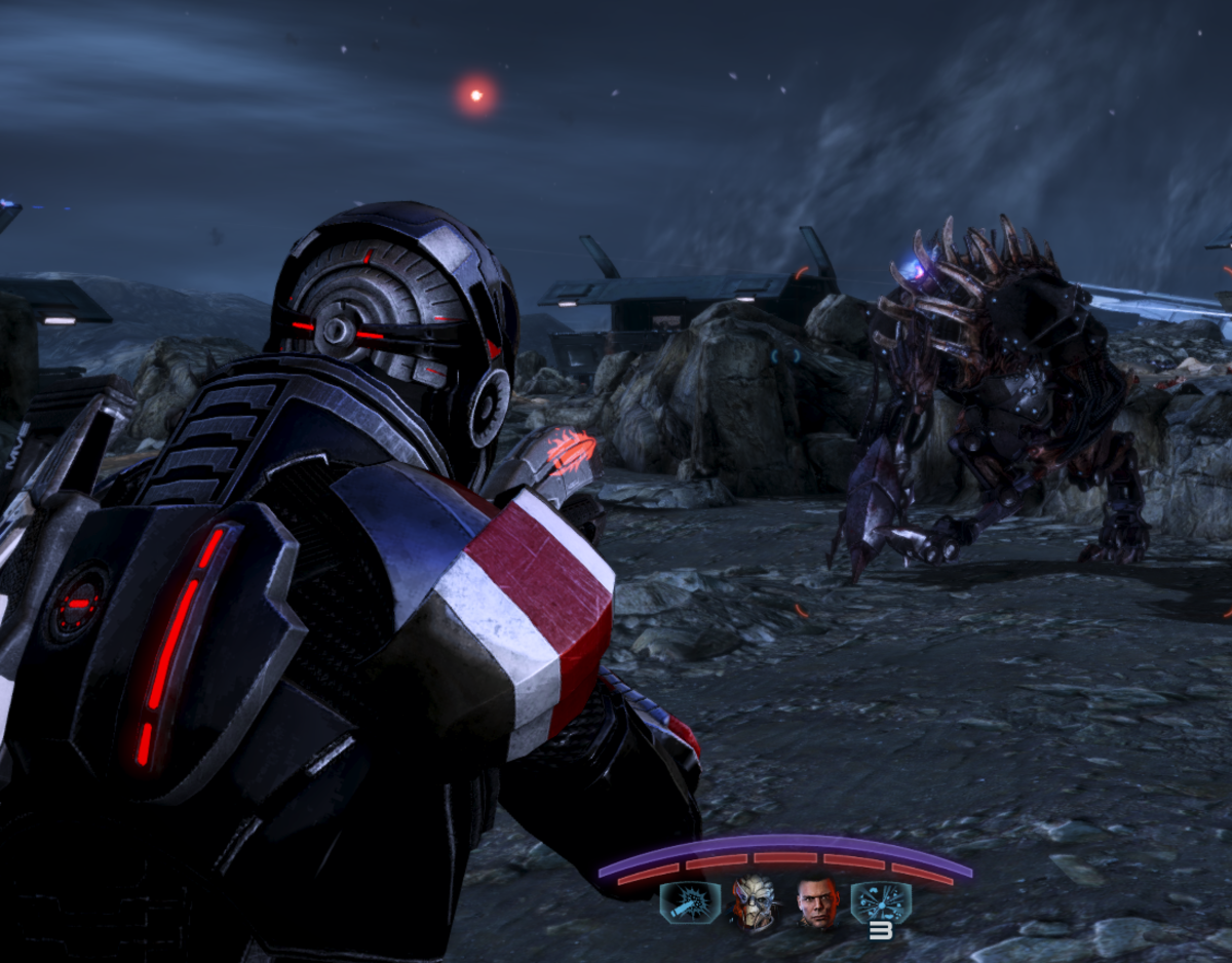 Using incendiary ammo on a Brute.