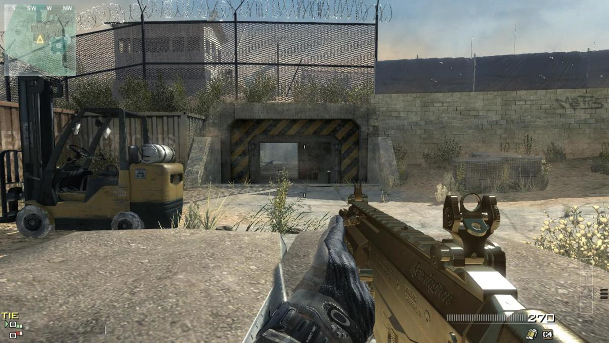 A snap-shot image of the gold camo for the ACR 6.8 assault rifle.