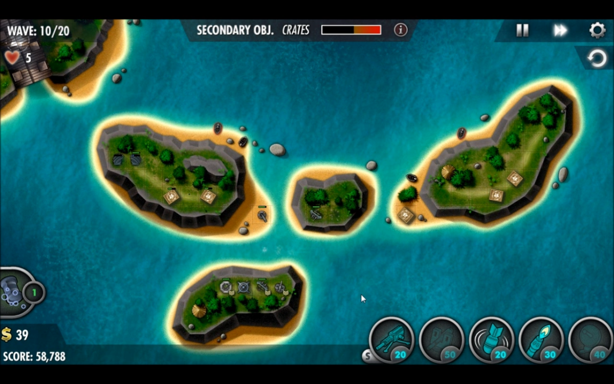 Wave 10 turret placement in Coral Sea.