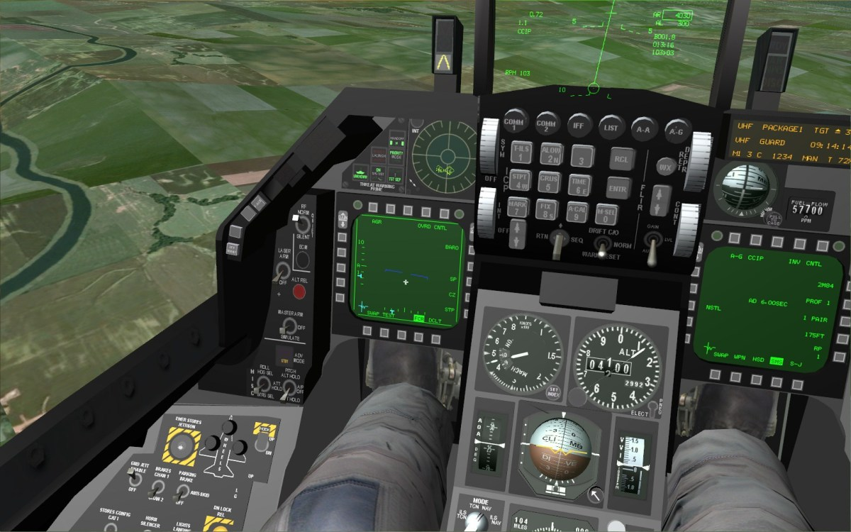 """Freefalcon 6"" 3-D cockpit."