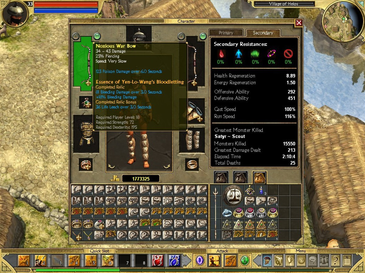 Inventory systems like the one in Titan Quest really let your OCD tendencies shine through