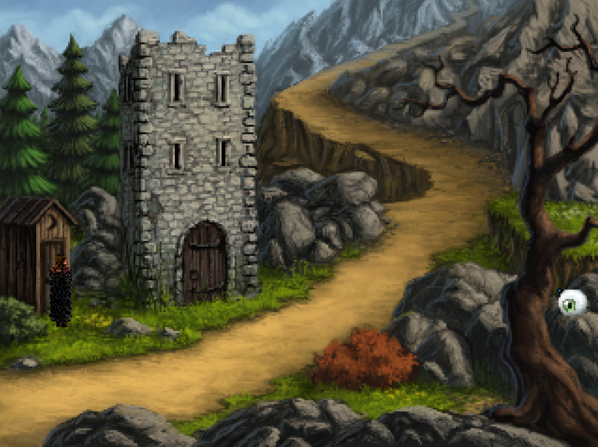 Roehm explores the eastern road in Quest for Infamy. You can't go much further than this.