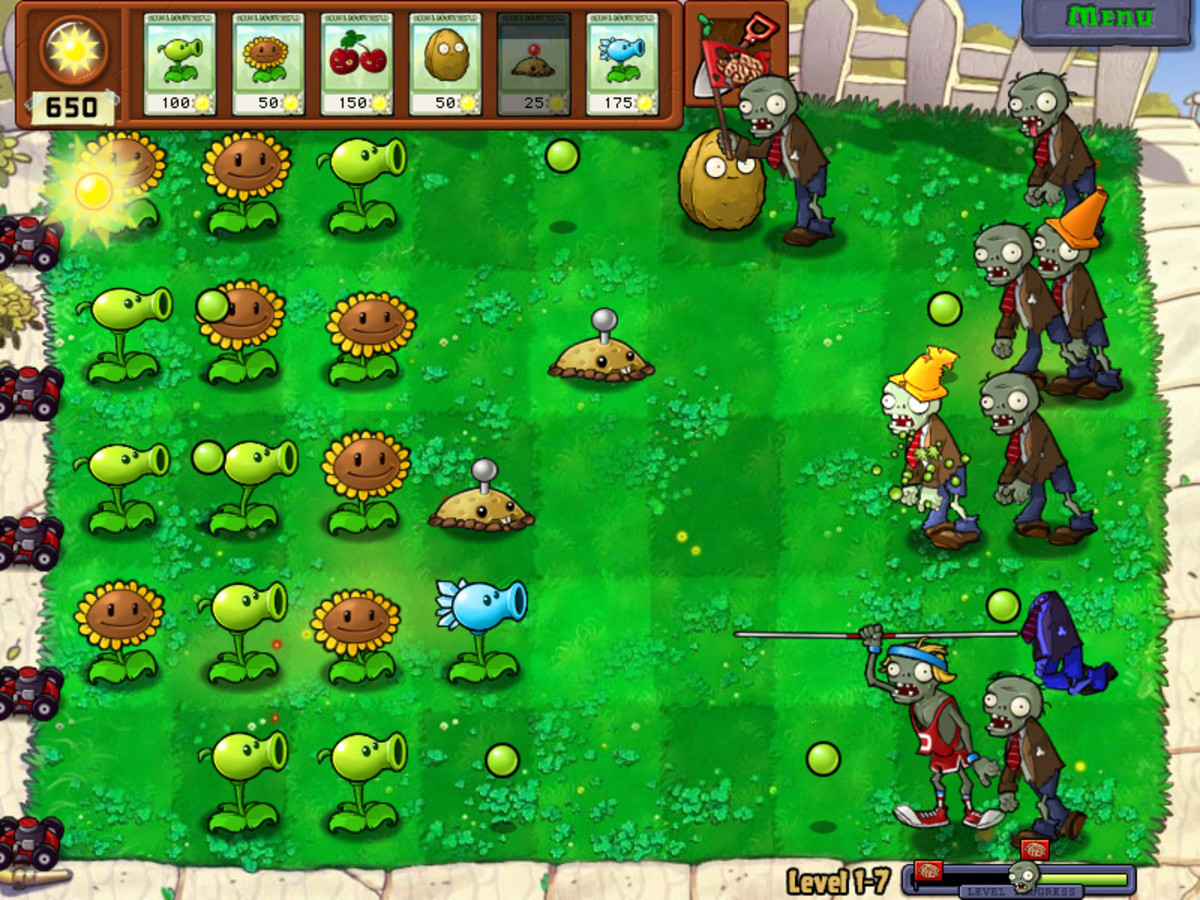 Why do some games appeal to casual players, and others to hard-core players? Plants vs. Zombies has relatively simple mechanics but is less repetitive than many 'hard-core' games.