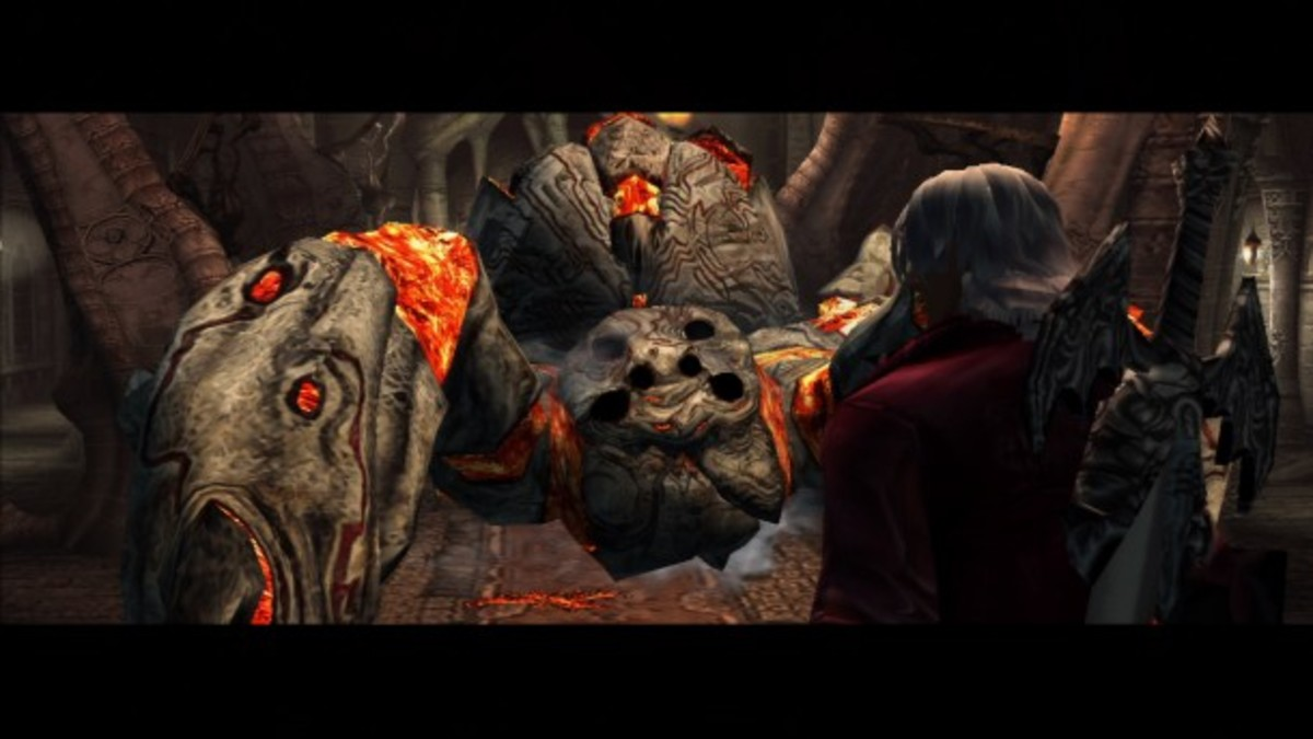 Devil May Cry (HD version shown) is a hard-core title not because it has many rules and mechanics, but because it offers punishing gameplay that demands excellent reflexes.