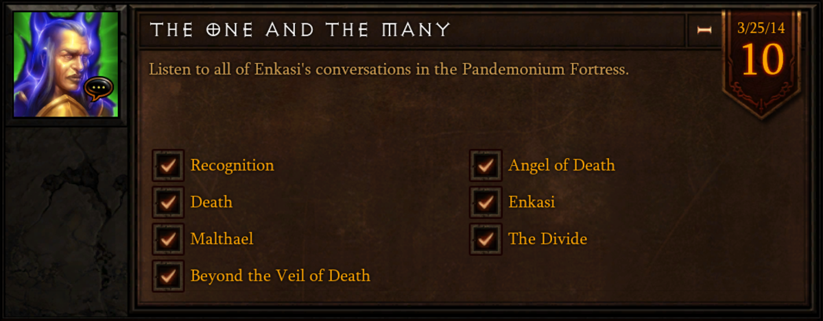 """""""The One and the Many"""" achievement."""