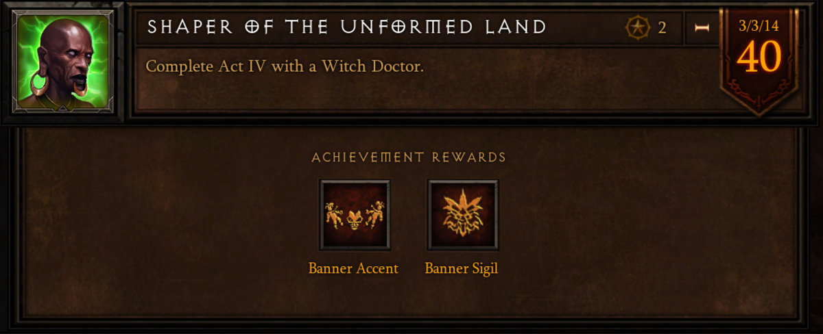 The Shaper of the Unformed Land achievement.