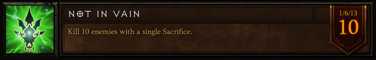 "The ""Not In Vain"" achievement."