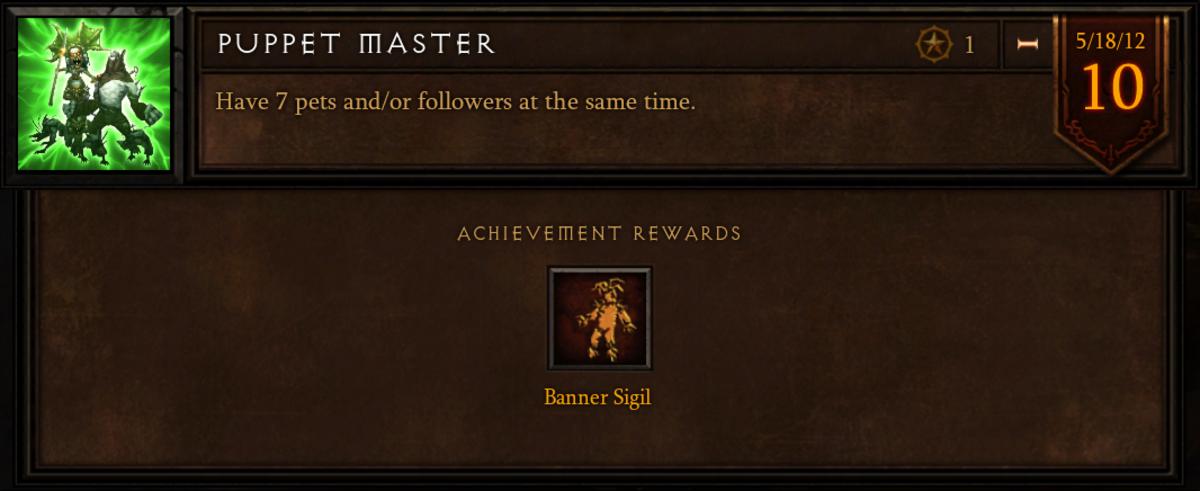 "The ""Puppet Master"" achievement."