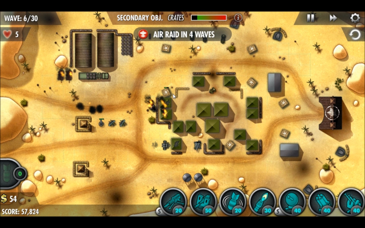 Wave 6 turret placement.