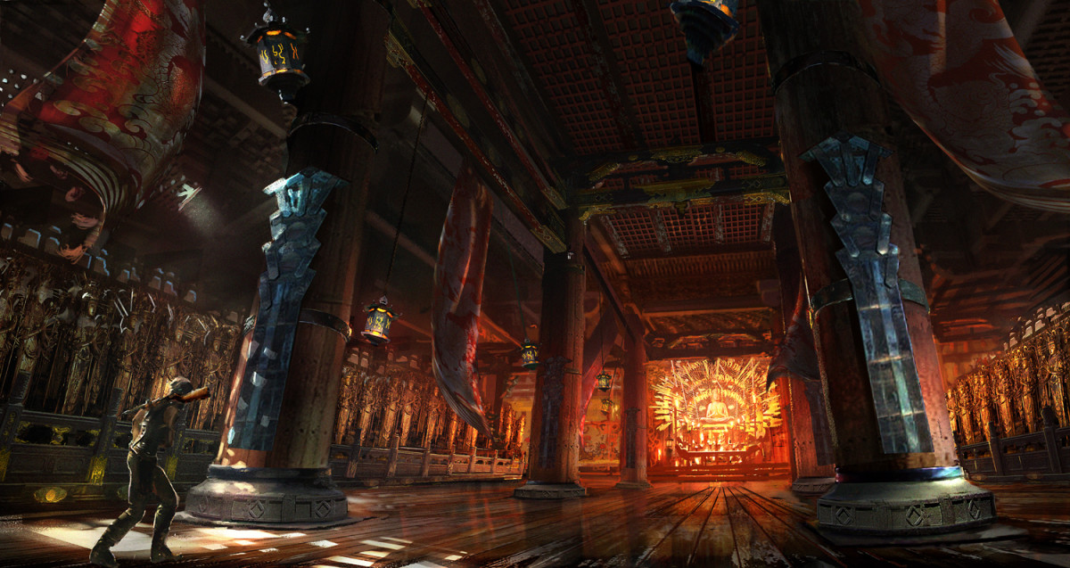 Concept Palace Room art released by Crystal Dynamics/Square Enix upon the game's success.