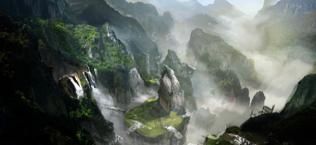 Concept Village art released by Crystal Dynamics/Square Enix upon the game's success.