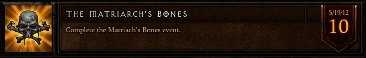 The Matriarch's Bones event achievement.