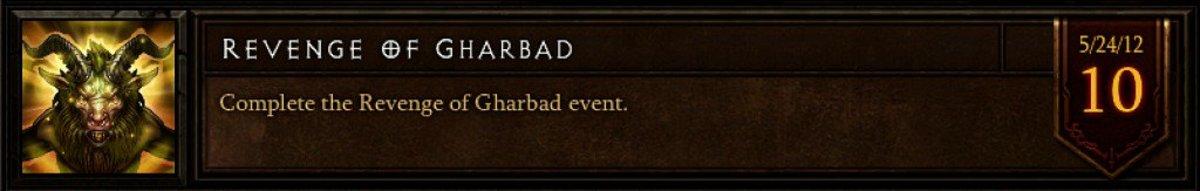 "The ""Revenge of Gharbad"" achievement."