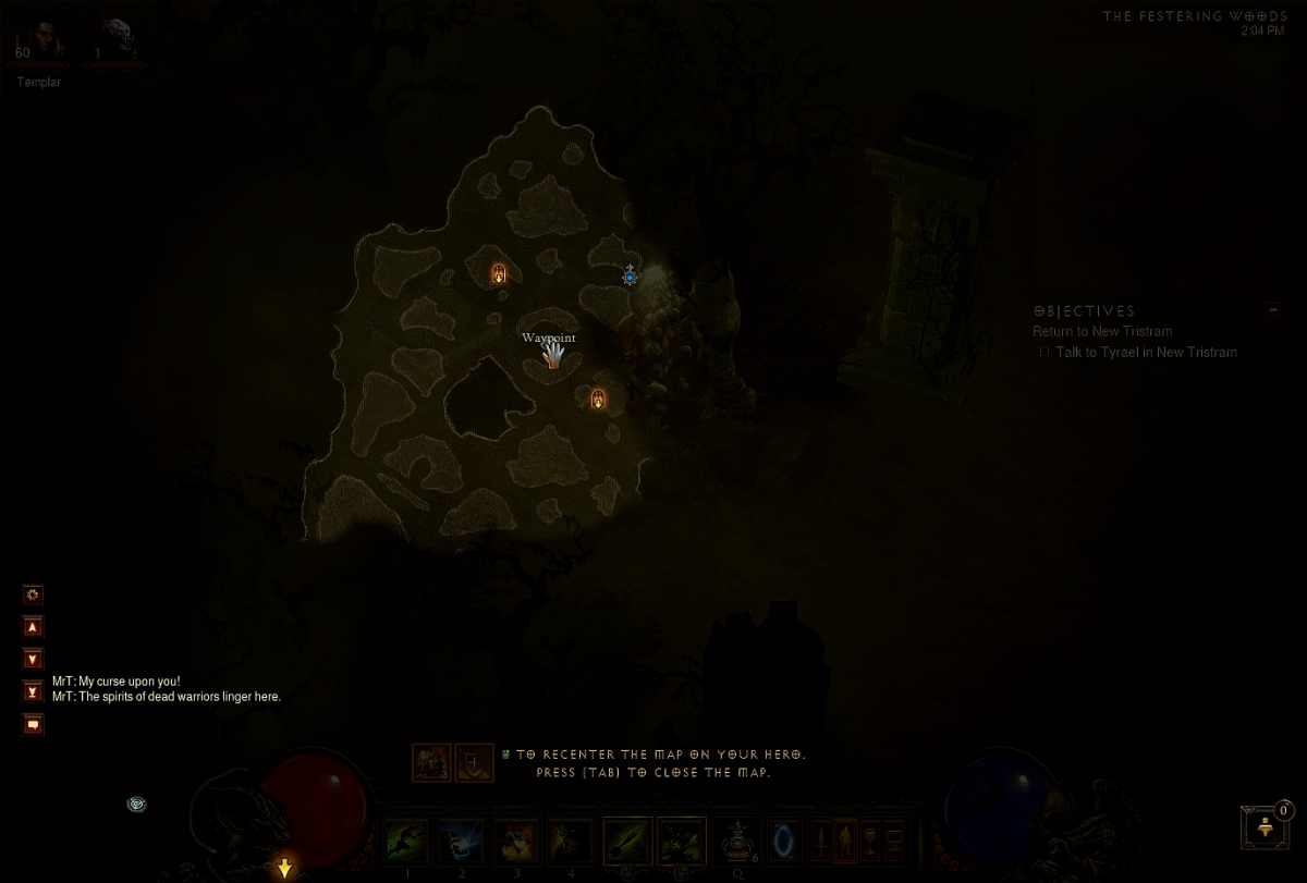 As mentioned, Eternal War usually spawns pretty close to the waypoint.