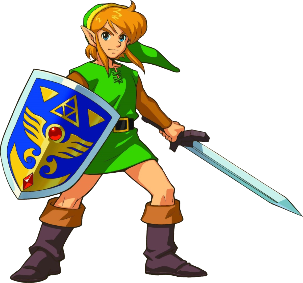 """Official artwork of the Link from """"A Link to the Past"""""""