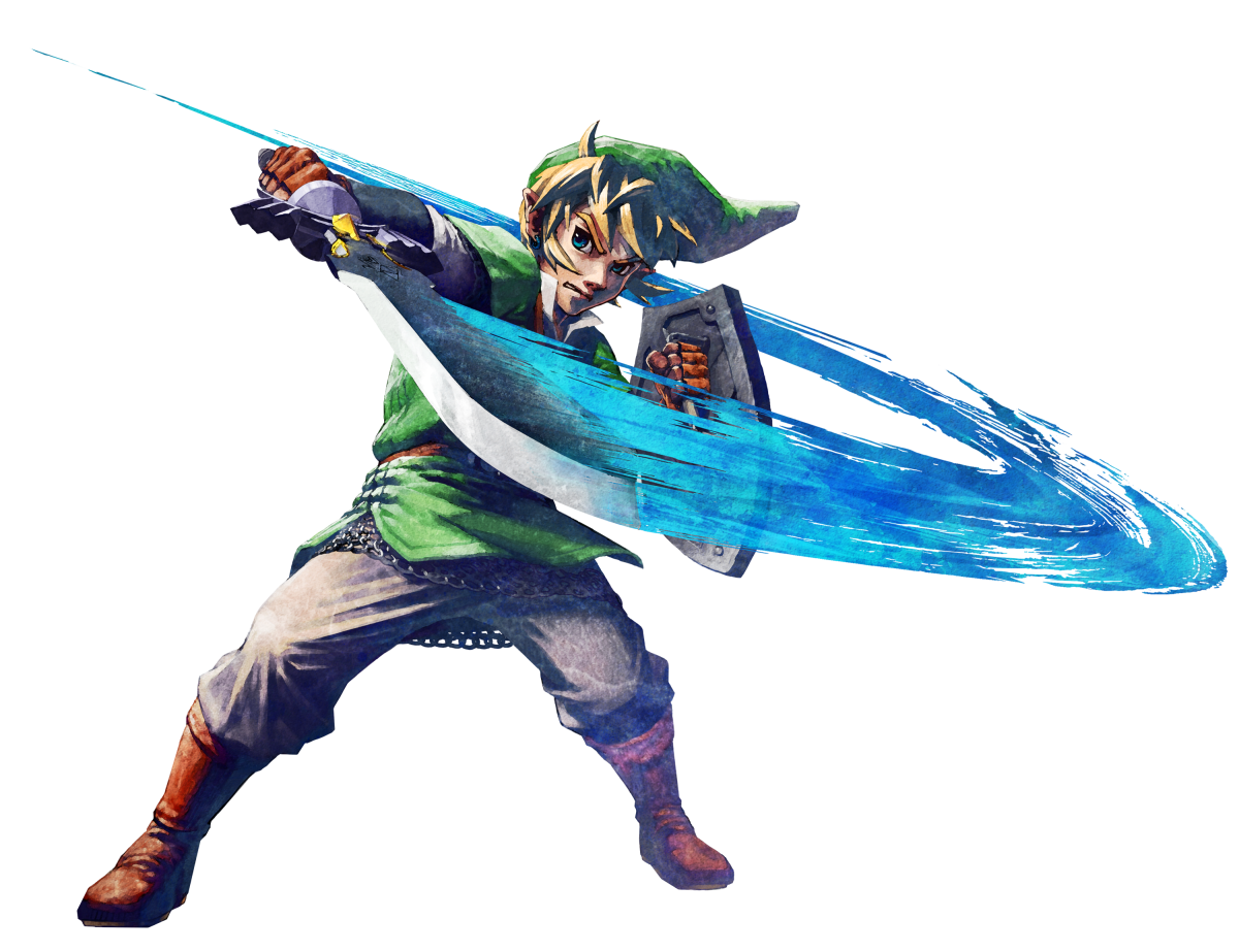 """Official artwork of the Link from """"Skyward Sword."""" Note the pants."""