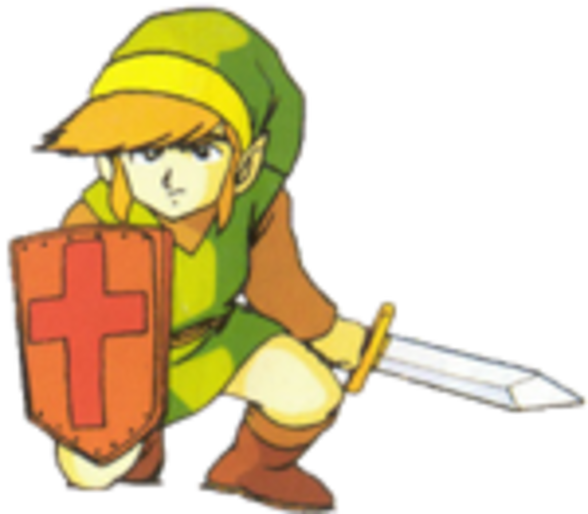 "Official Artwork of the Link from the original ""The Legend of Zelda""."