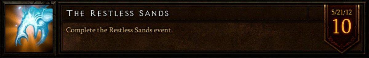 The Restless Sands event achievement.