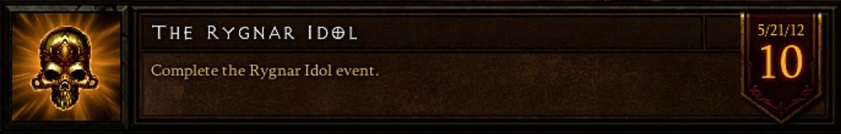 The Rygnar Idol event achievement.