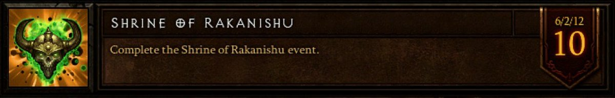 "The ""Shrine of Rakanishu"" achievement."
