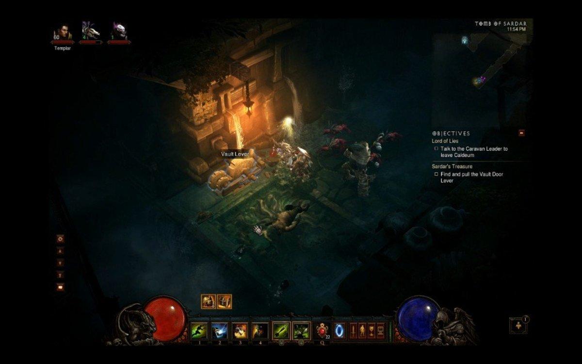 The vault lever which opens the treasure room door.