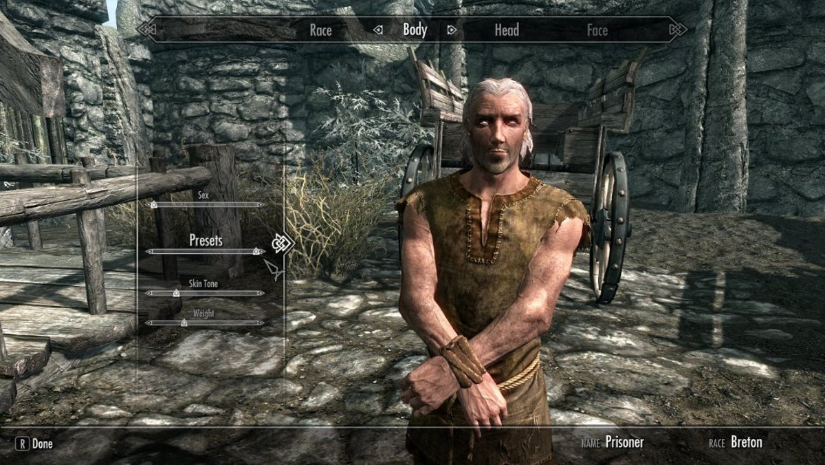 Your new character now appears in-game.