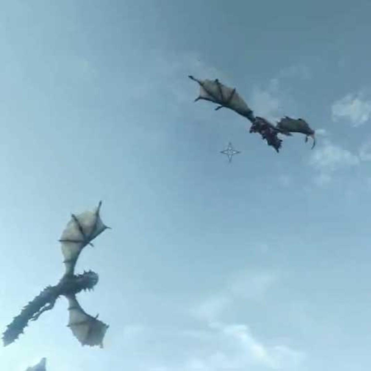 Skyrim Defeat the Twin Dragons Voslaarum and Naaslaarum