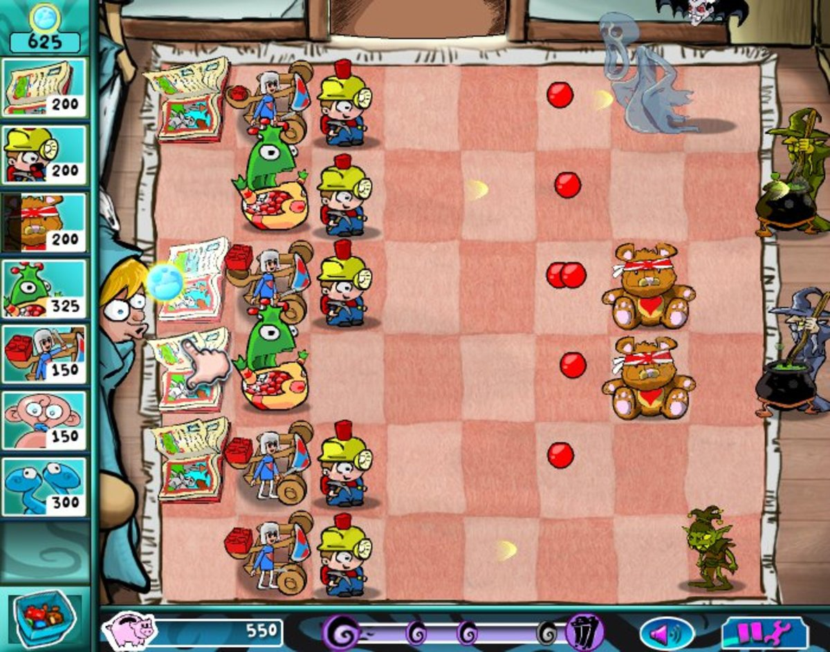 Toys vs. Nightmares is a fairly faithful (if short) Plants vs. Zombies clone.