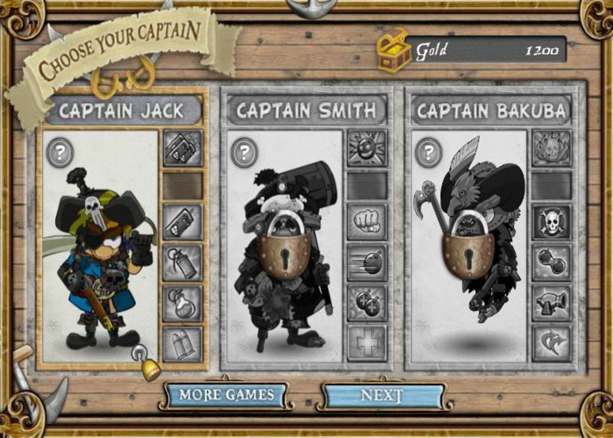 PoT gives you a choice of captains, each with their own abilities.