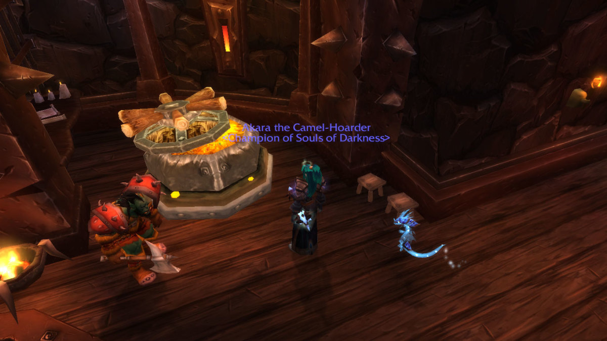 Checking the guild bank in Orgrimmar.