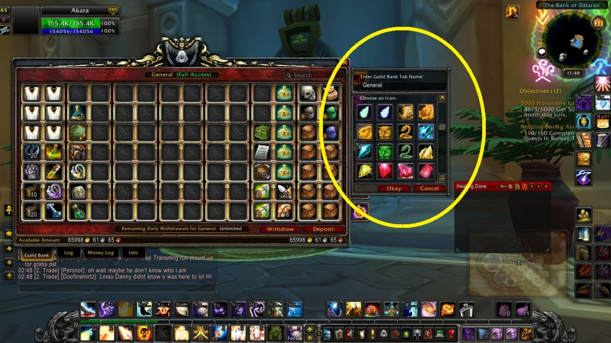 I show you where you can edit the Icon and Name of your guild tab.