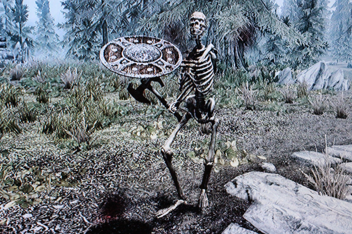 Regular skeletons and wolves are good alternatives to crabs.