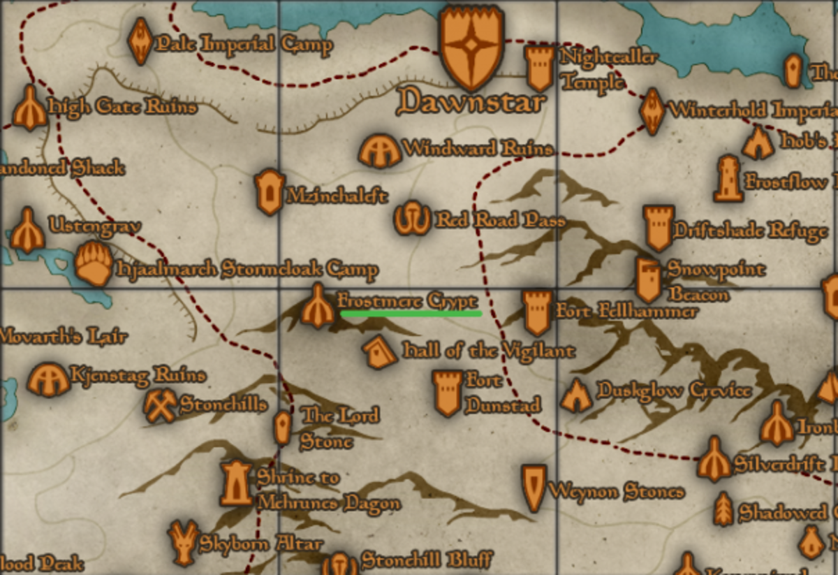 Location of Frostmere Crypt