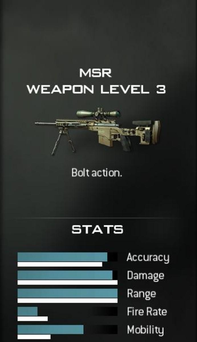 The MSR Sniper Rifle from Modern Warfare 3.