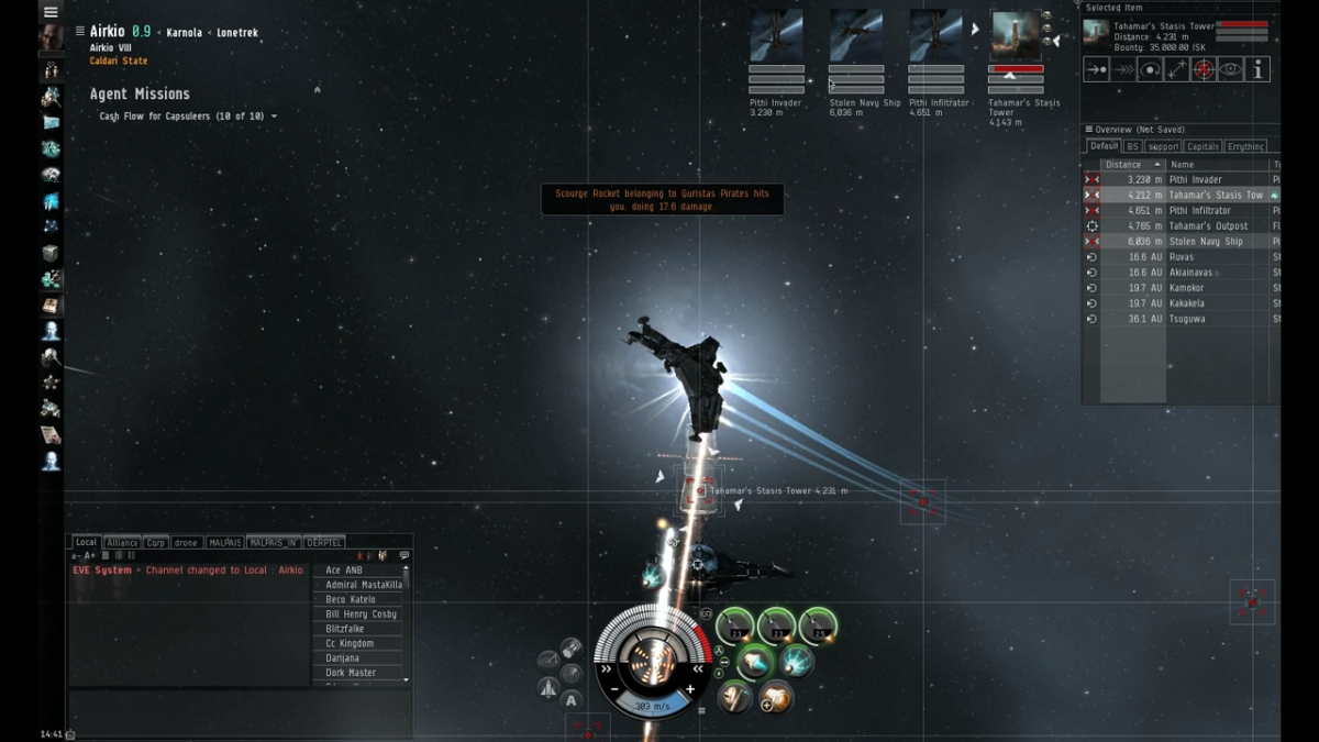 Being webified makes attacks hit harder due to your ship's reduced speed.