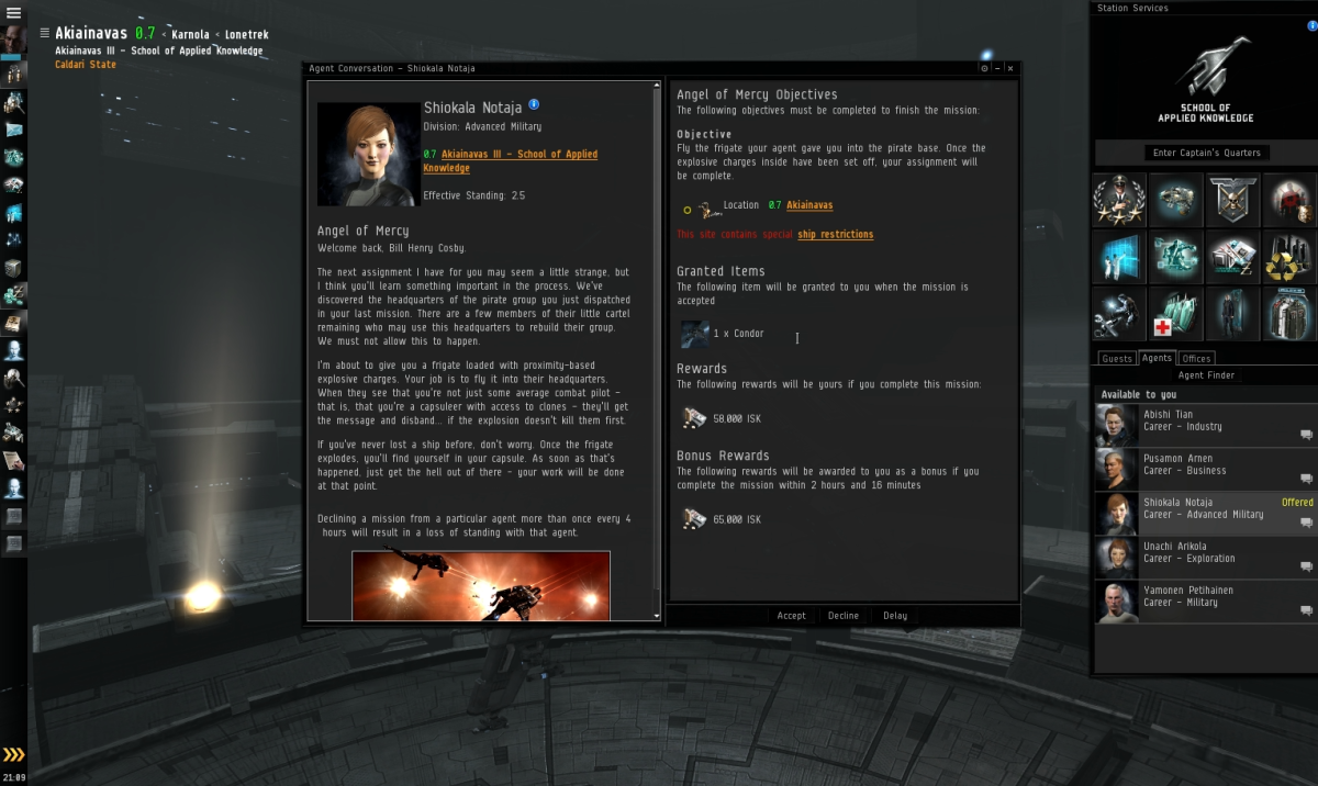 Angel of Mercy - Eve Online Mission Guide