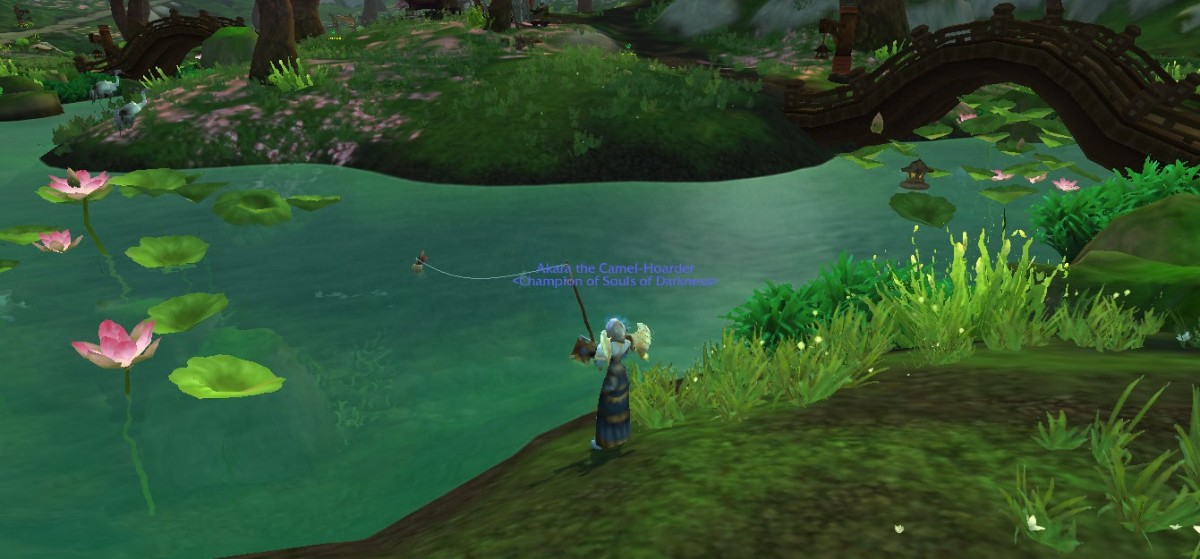 This is the river right next to the quest givers.