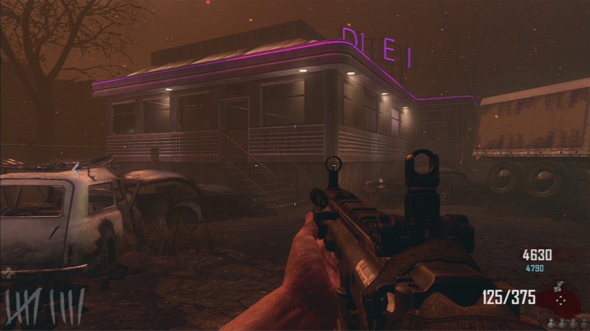 The diner houses an MP5, which is a great gun in both early and later rounds.