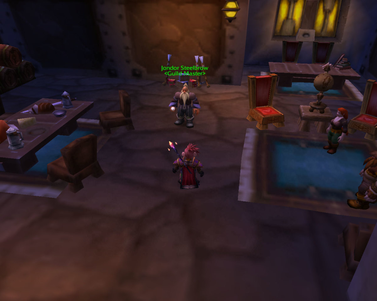The Guild Master is located in the Visitor's Center of all major cities in Azeroth.