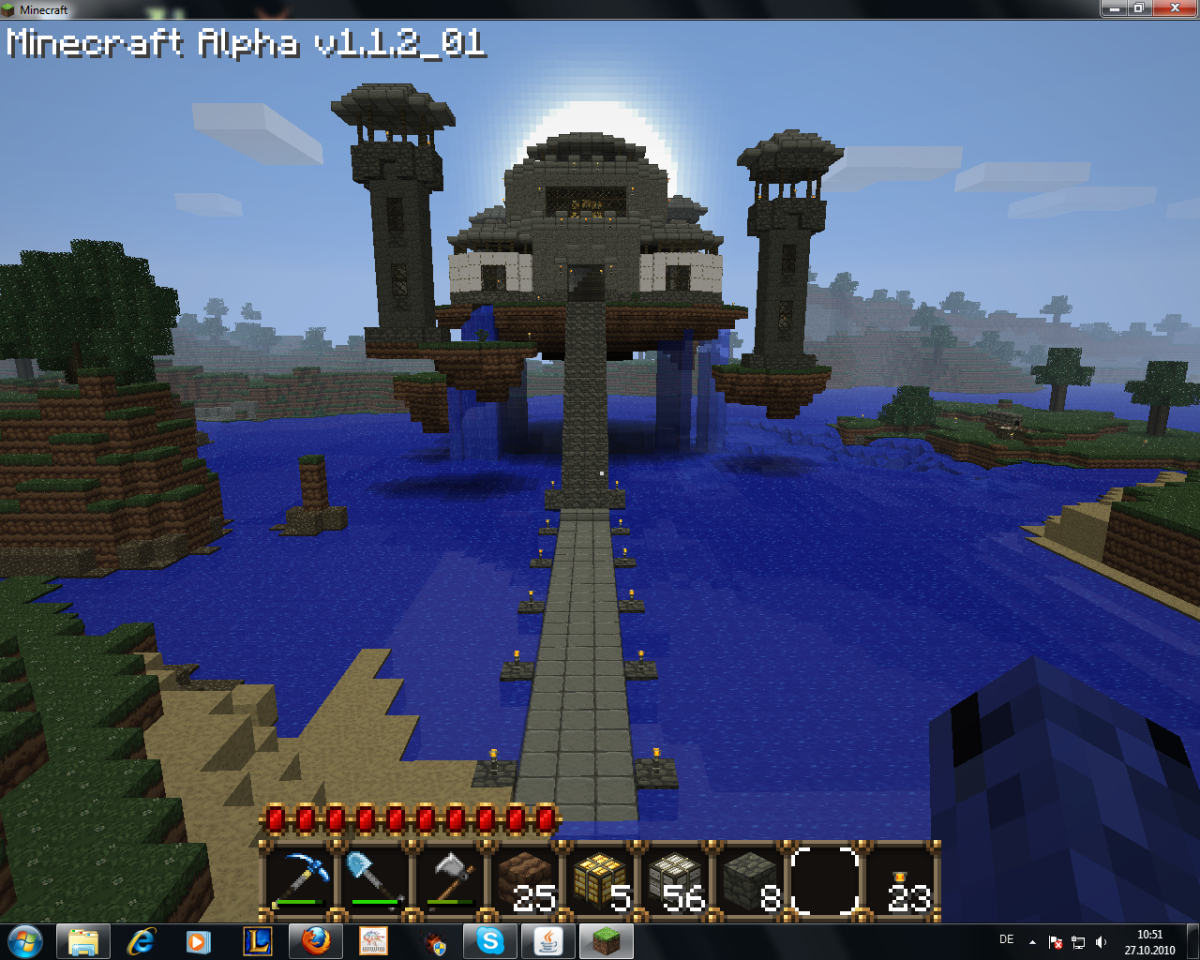"Here is a great example of an impenetrable home base created by a member of the ""Minecraft"" community."