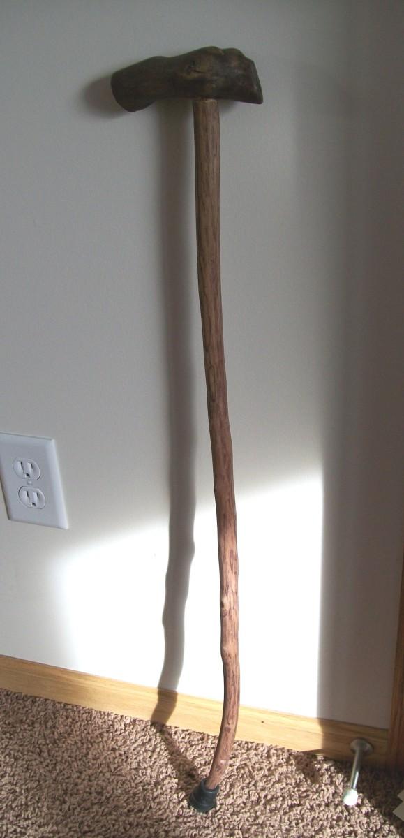 The whole handmade cane.