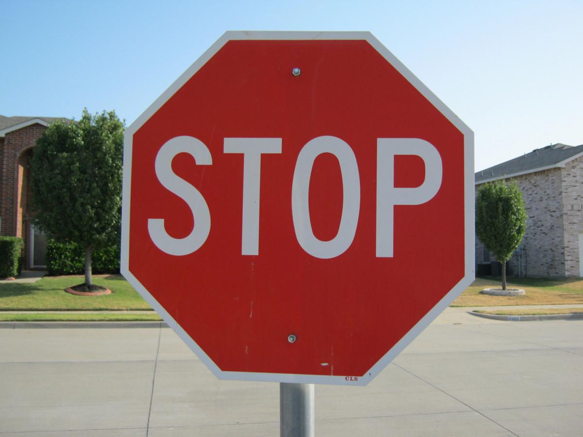Street stop sign
