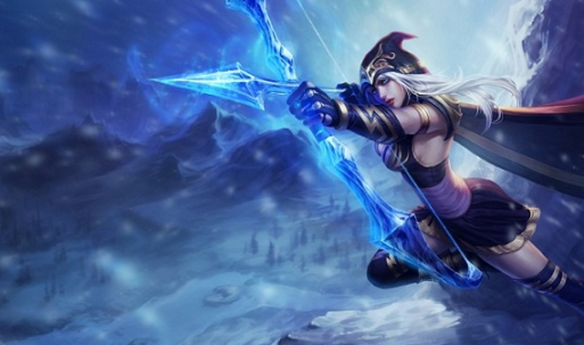 Ashe, the Frost Archer. Enchanted Crystal Bow and Arrows sold separately.